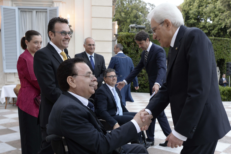 Il Presidente Trieste in occasione di un incontro con il Presidente Mattarella