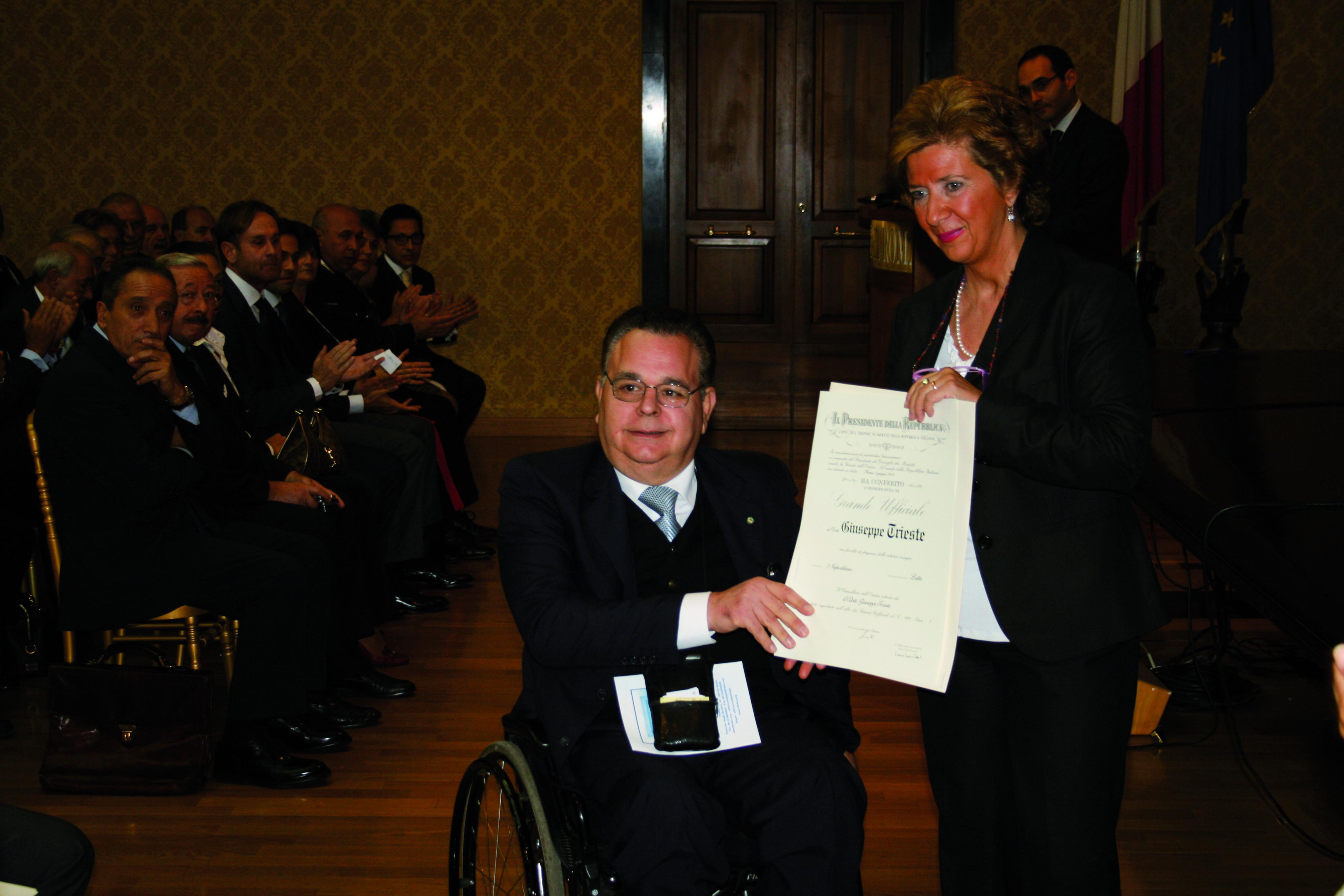 Giuseppe Trieste Presidente di FIABA